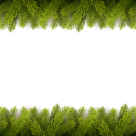 Vector eps10 isolated seamless background with realistic Christmas tree. Illustration
