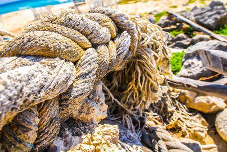 Sun-bleached Rope on a Beach
