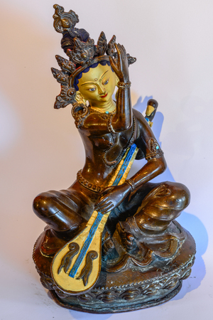 Dakini with Veena music instrument Statue Banque d'images