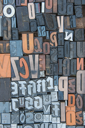 Alphabet print letters characters mirrored