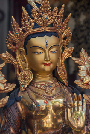 White Tara Buddha Statue 写真素材