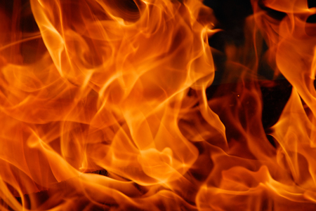 fire closeup yellow orange flames full frame background Banque d'images