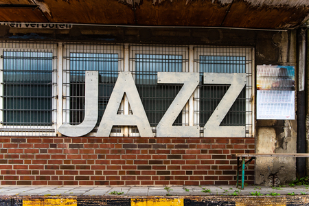 Jazz sign on fabric wall