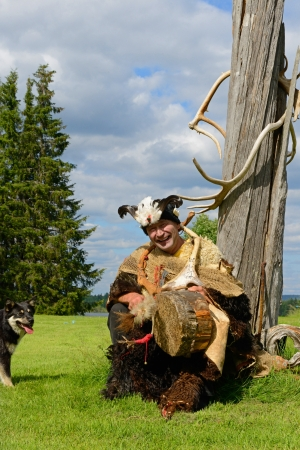 shamanism: Sami shaman  Finnish Lapland