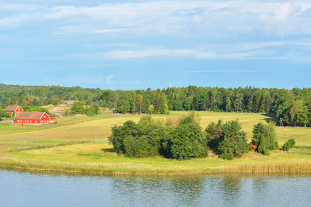 Landscape with farm. Aland Islands, Finland