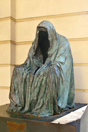 conscience: Il Commandatore or Cloak of Conscience (sculptor Anna Chromy), in memory of Mozarts Don Giovanni premiered October 29, 1787 in Estates Theatre in Prague.