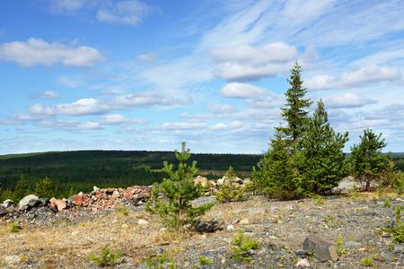 overburden: Abandoned mine. Northern Finland
