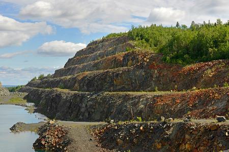 overburden: Abandoned mine. Northern Finland. Lapland Stock Photo