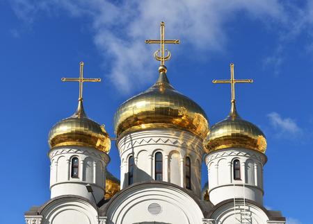 merciful: Church of Merciful Saviour in Mitino, Moscow, Russia