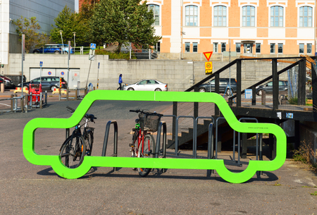 converts: : Cyclehoop converts existing street furniture into secure cycle parking and is ideal cycle parking solution where pavement space is limited