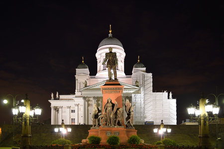 evangelical: Helsinki Cathedral is Finnish Evangelical Lutheran cathedral of Diocese of Helsinki, located in Kruununhaka. Facade fronted by statue of Russian Emperor Alexander II