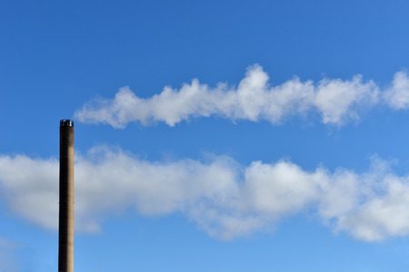 exhaust system: Pollution air. Industrial smoke Stock Photo