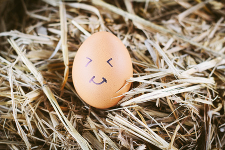 sick people: Painted  eggs about emotion on the face