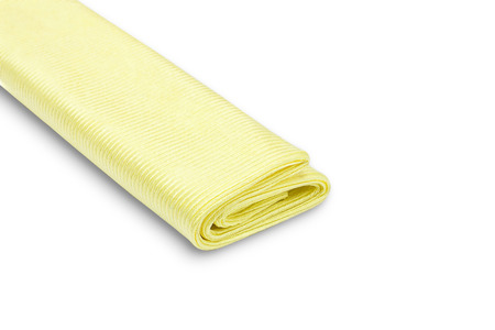 microfiber: Yellow microfiber duster isolated on white background Stock Photo