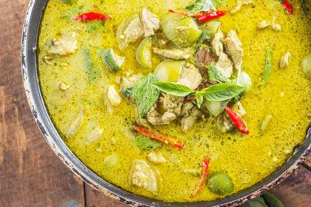 thai: Green pork Curry , Thai cuisine