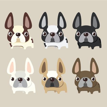 franse bulldog ontwerp, huisdier en concept dier