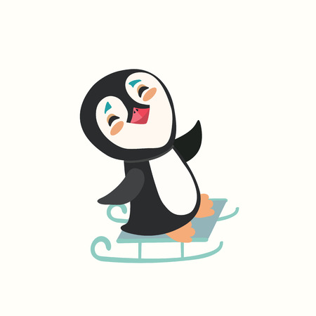 cold cuts: Pretty baby penguins on a sled