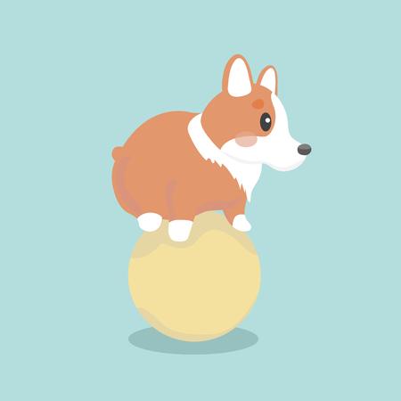 pembroke: Cute welsh corgi dog vector illustration Illustration