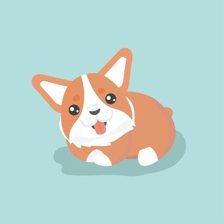 purebred: Cute welsh corgi dog vector illustration Illustration