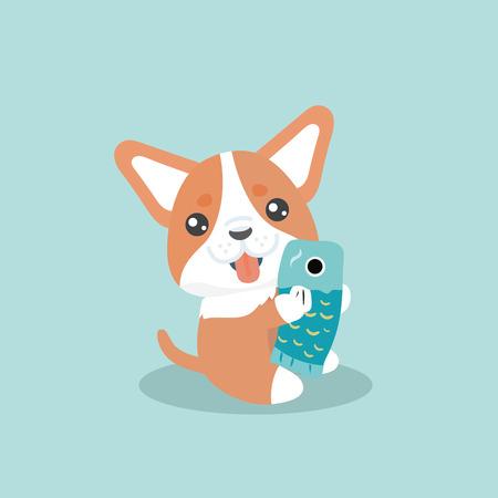 Cute welsh corgi dog vector illustration Illustration