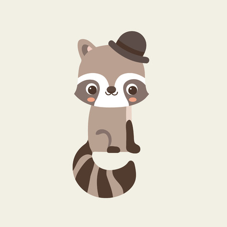 cute: Cute Raccoon Illustration