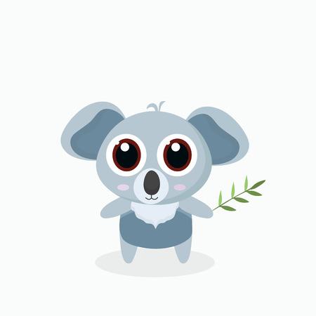 illustration of cute little cartoon koala. Illustration
