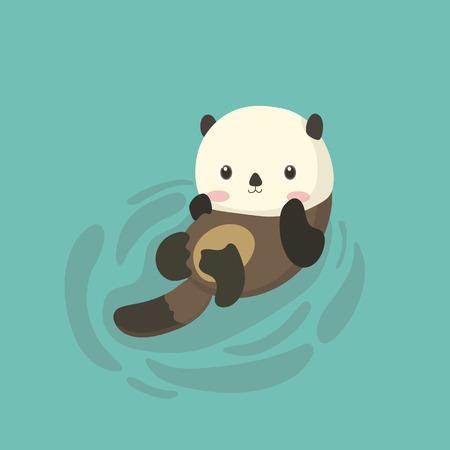 Funny cartoon beaver.