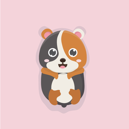 cute: Cute hamster. Illustration