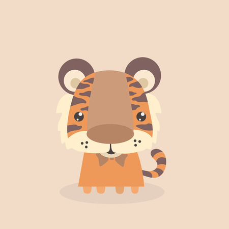 cute: Cute little tiger.