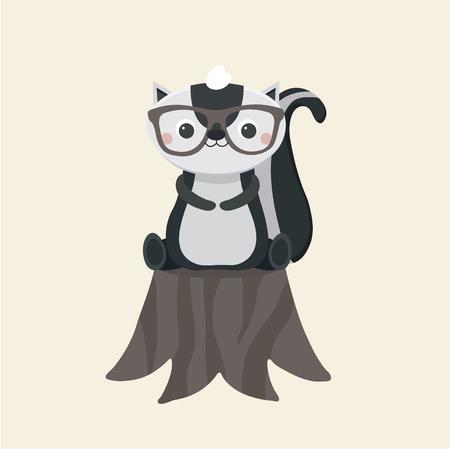 Little funny skunk.