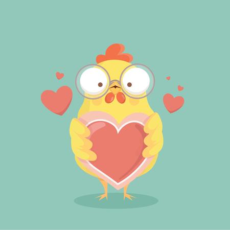 かわいい漫画鶏ベクトル。