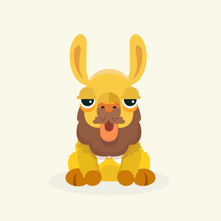 Vector cute llama or alpaca illustration. Funny animal. Illustration