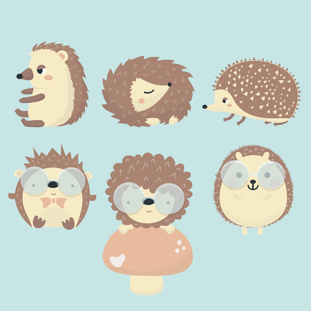 Vector set of porcupine. Иллюстрация
