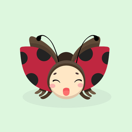 ladybird: Cute Ladybug vector illustration in flat style.