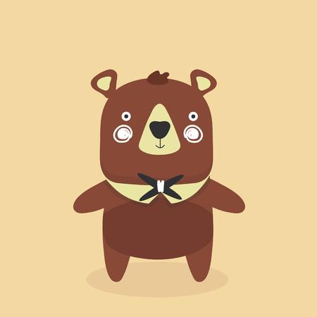 Cute baby bear cartoon.