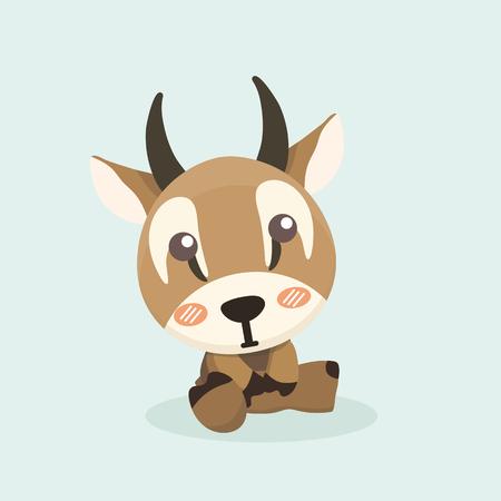 Cute cartoon antelope.