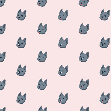 Vector pattern with bats on pastel background.