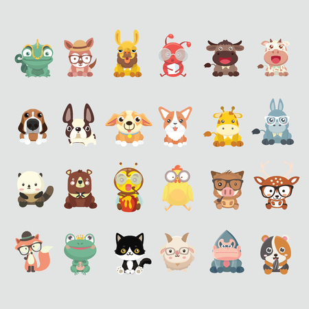 Cute animal collection.