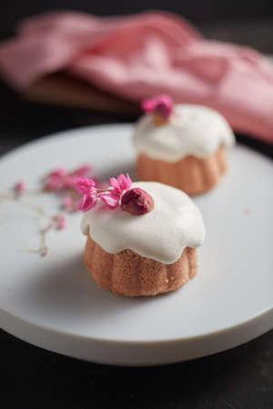 Homemade Rose Milk Cakes delicious dessert creative menu.