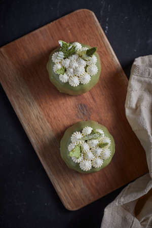 delicious Matcha cake made from green tea