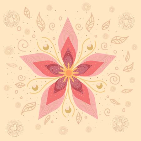 Russian pattern of flowers Illustration