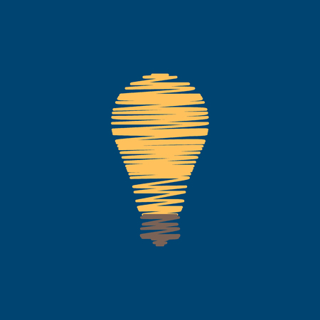 Light Bulb Shape as Inspiration Concept. Flat Style.