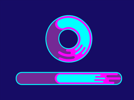 Progression bar icon. Bright loading bar in a flat style illustration.