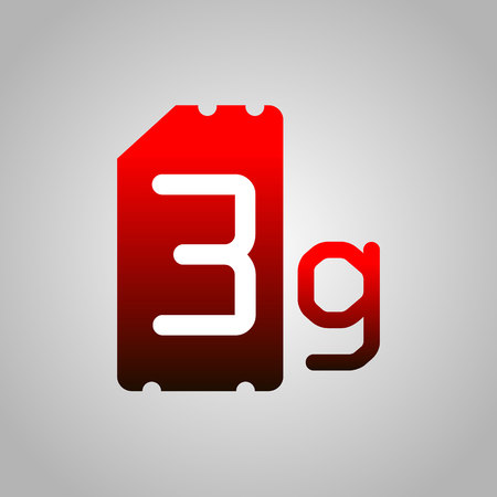 3G Sim Card. Mobile telecommunications technology symbol. Speed data downloading cycle