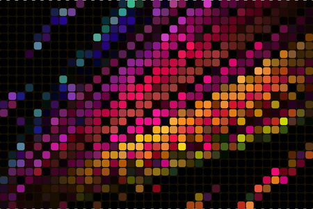 abstract square pixel mosaic background. abstract geometric mosaic background of squares. 向量圖像