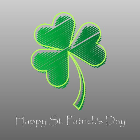 Irish four leaf lucky clovers background for Happy St. Patrick s Day. EPS 10.