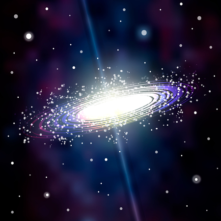 Astrology Mystic Galaxy Background. Outer Space. Vector Digital Colorful Illustration of Universe. 10 eps.