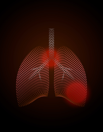 World Tuberculosis Day poster . Medical solidarity day concept. Sick lungs.Vector illustration.