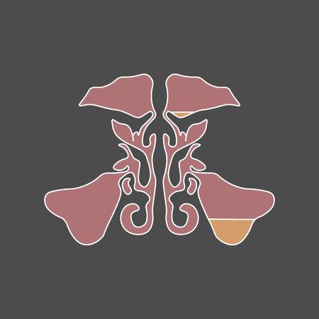 Flat style Maxillary sinus. Sinusitis. Sinus infection is inflammation of the sinuses. rhinosinusitis 10 eps