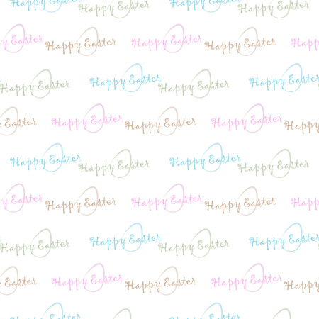 Seamless background of color happy Easter text and egg 10 eps